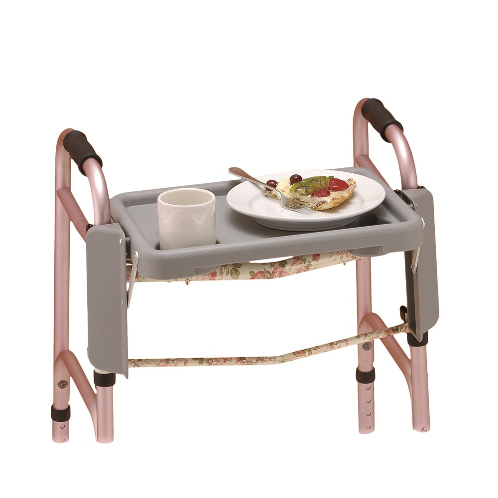 NOVA Walker Tray with Two Cup Holders, Easy Up and Down by NOVA Medical Products