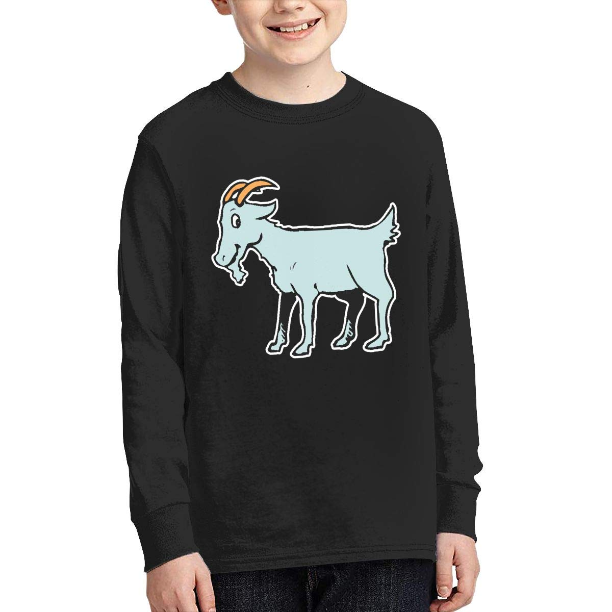 Teenagers Teen Girls Happy Goat Printed Long Sleeve 100/% Cotton Clothes