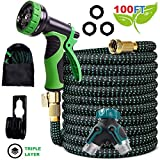 Best Expandable Hose 100fts - Expandable Garden Hose - 50FT 100FT Upgraded Strength Review