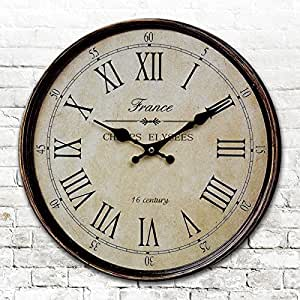 Round Round American Antique Clocks Digital Wall Clock Digital Clock Retro Living