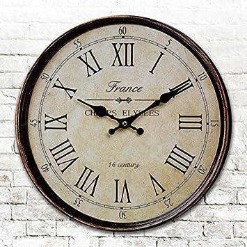GroBartig Runde Runde Amerikanischen Antike Uhren Digitale Wand Uhr Digitaluhr Retro  Wohnzimmer Schlafzimmer Uhr Durchmesser 34/