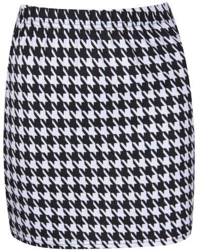 Nuevas mujeres Mini faldas en muchos PRINTS, Mini falda, talla UK tamaño 8–�?4 DOG TOOTH