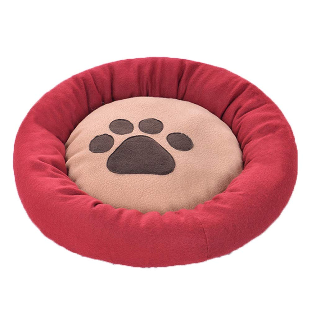 Red DIAOSI Chongwuwo Round pet bed coral velvet dog mattress sofa dog bed cat bed four seasons universal biteresistant pet supplies (color   Green)