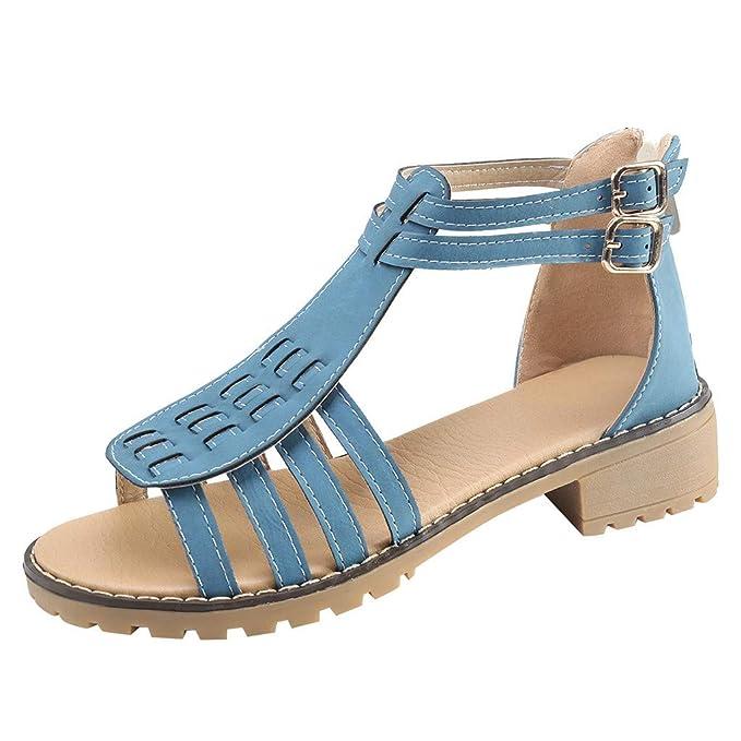 b30e7b0da978b Amazon.com: Claystyle Women's Ankle Strap Sandals Summer Flat Open ...