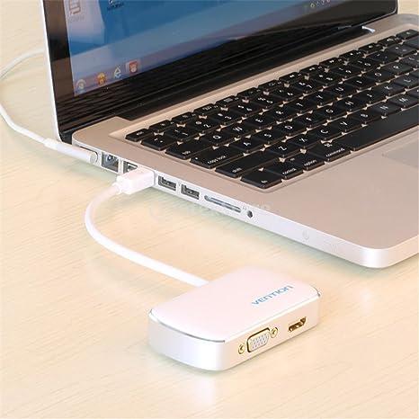 H HILABEE Mini DP A HDMI VGA Adaptador Mini DisplayPort 1080p ...