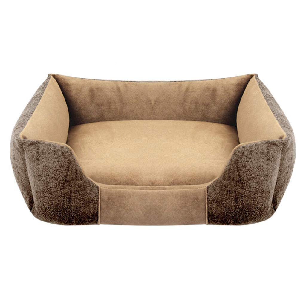 Brown 55×45cm Brown 55×45cm A++ Velvet Sofa Pet Nest, Household golden Hair Small Medium Large Cat Dog Dual-use Bed, Four Seasons Universal Non-Slip Pet Mat (color   Brown, Size   55×45cm)