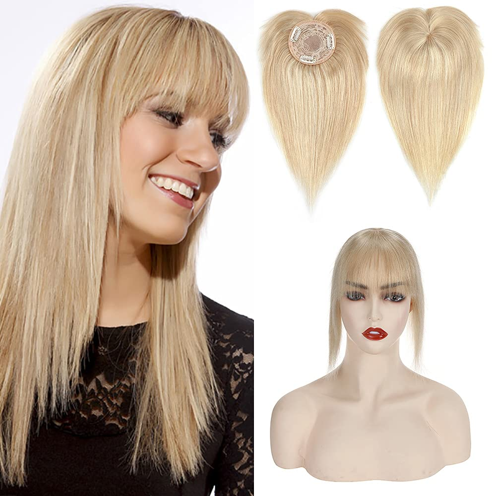 Clip In On Hair Topper Raleigh Mall with 100% M Toppers Bangs Human Real sold out