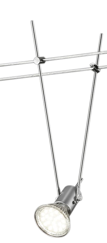 KHL LED Spot Seilsystem 12V 25cm titanfarbig GU5, 3 max 4 Watt KH6500-87