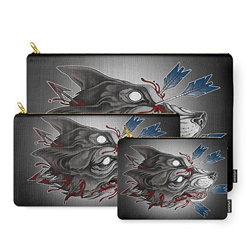 Society6 Big Bad Werewolf Carry-All Pouch Set of 3 (Big Bad Wolf Makeup)
