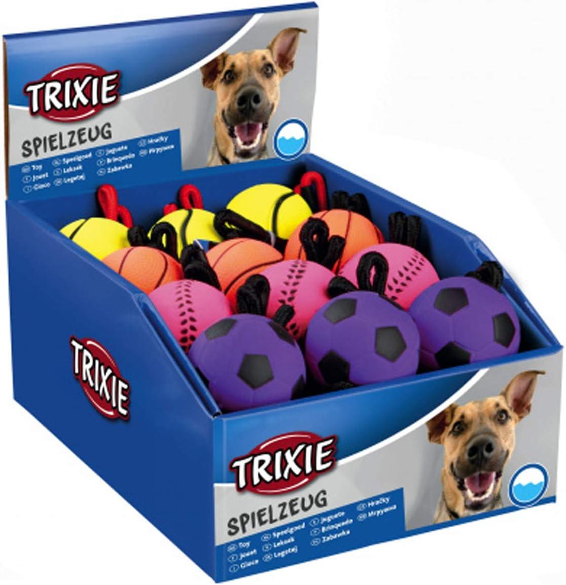 Trixie Surtido Sport Pelotas Am Cuerda, Goma, Flota en el Agua, Perros Juguete 3459: Amazon.es: Productos para mascotas