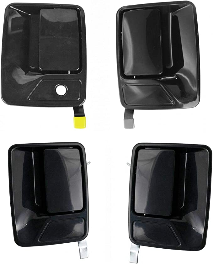 Front Left Outside Door Handle Textured Black for 99-14 Ford F Super Duty Truck