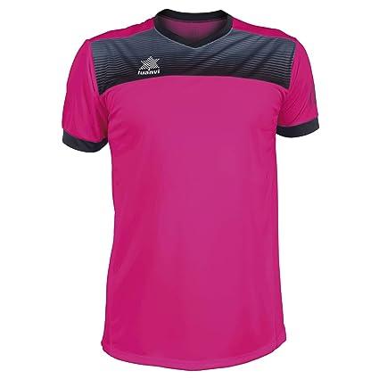 Luanvi Bolton Camiseta Manga Corta de Tenis, Hombre, Rosa, XXL