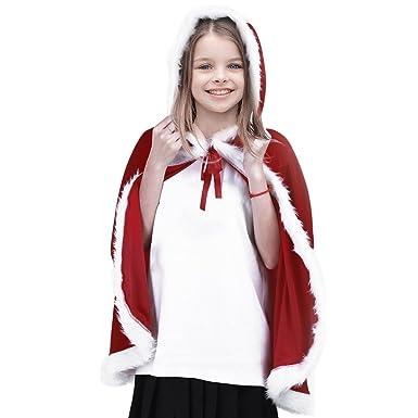 5f8f91cb6a9b7 YiZYiF Cadeau Noël Fille Déguisement Capot Cape à Capuche Noël Mère Costume  Capuchon Rouge 3-14 Ans  Amazon.fr  Vêtements et accessoires