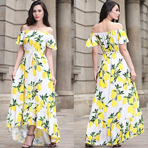 Blanco De Vestido Vestidos Cintura Para Vestido De JIALELE Fiesta Fiesta Collar Imprimir Mujer Mujer UfOtxSq