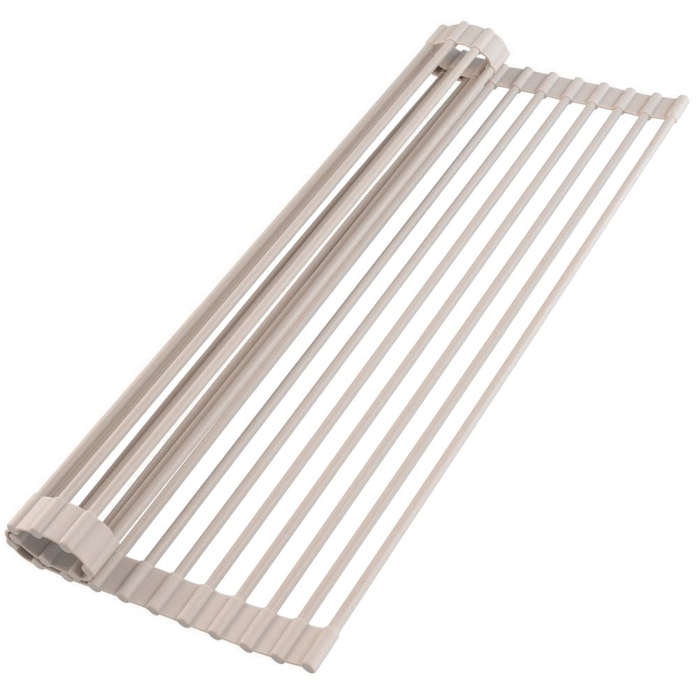 My Sink Rack Roll | 20.5''x13''x0.3'' Over the Sink Roll Up Dish Drying Rack for Air Drying Washed Dishes | Stainless Steel SGS Certified Foldable Roll Drying Rack for Prep Work Platform | Grey | 774.3