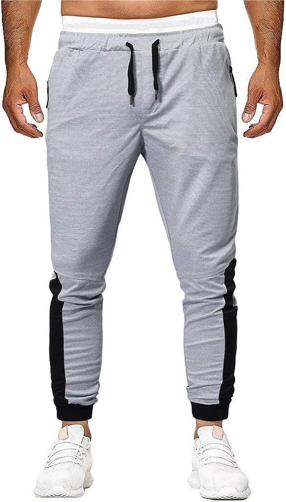 Palarn Sports Pants Casual Cargo Shorts Fashion Mens Sport Joint Lashing Patchwork Loose Sweatpants Drawstring Pant