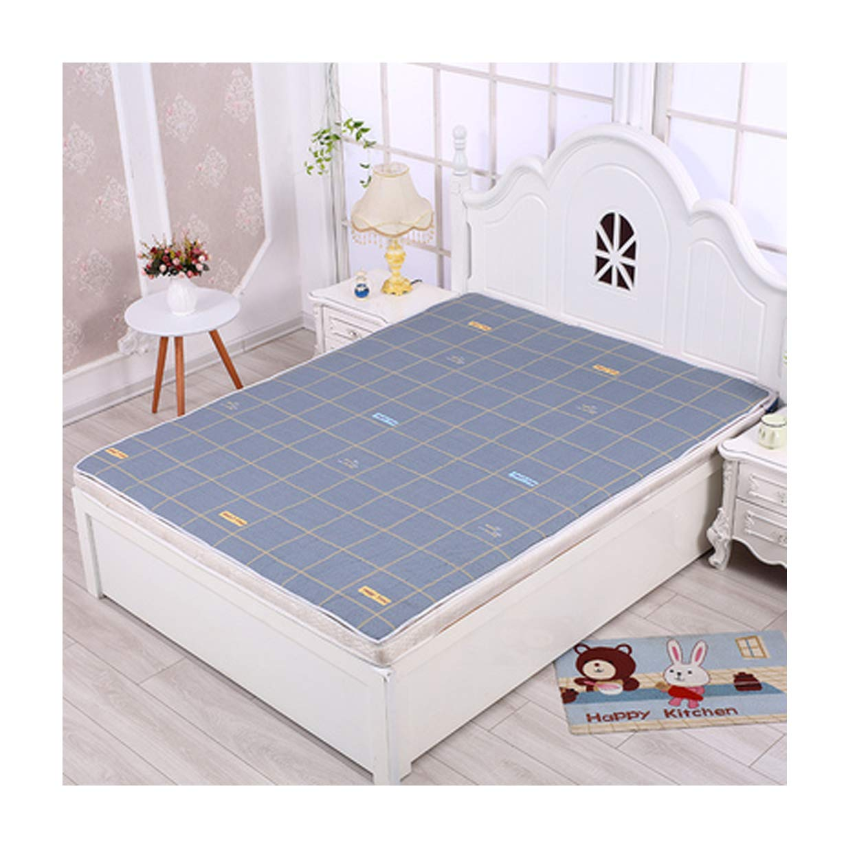 Ggsrtesxs Absorbent Premium Quality Bed Pad Adult Women Baby Patient Cotton Breathable Thicken Large Non-Slip Moisture-Proof Quilted Waterproof Reusable Washable,G,120x200cm by Ggsrtesxs