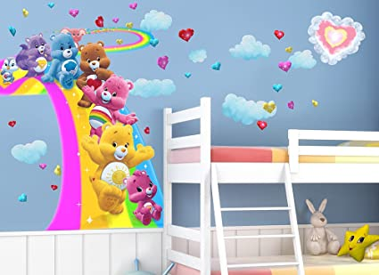 Care Bears Large Surfing Rainbow Wall Decal Set
