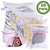 Amazon.com: 10 unidades lencería brasier bolsa de lavado de ...