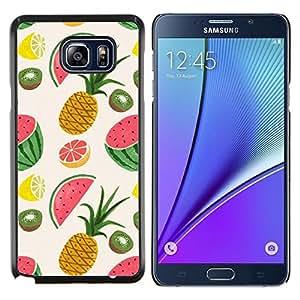"""Pulsar Snap-on Series Teléfono Carcasa Funda Case Caso para Samsung Galaxy Note5 / N920 , Piña Fruit Dibujo Pintado"""""""