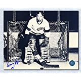 Dennis Riggin Detroit Red Wings Autographed Early Goalie Mask 8x10 Photo