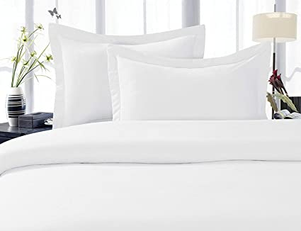 Lenzuola King Size.Egyptian Cotton 1000 Thread Count 4pc Bed Sheet Set Uk King Size White Solid 20 Cm Deep Pocket By Scala