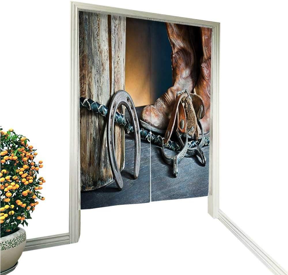 QianHe Noren - Cortina de Puerta con diseño de casa de Campo con Motivos navideños con diseño de Wreath Americana, Color Crema y marrón: Amazon.es: Hogar