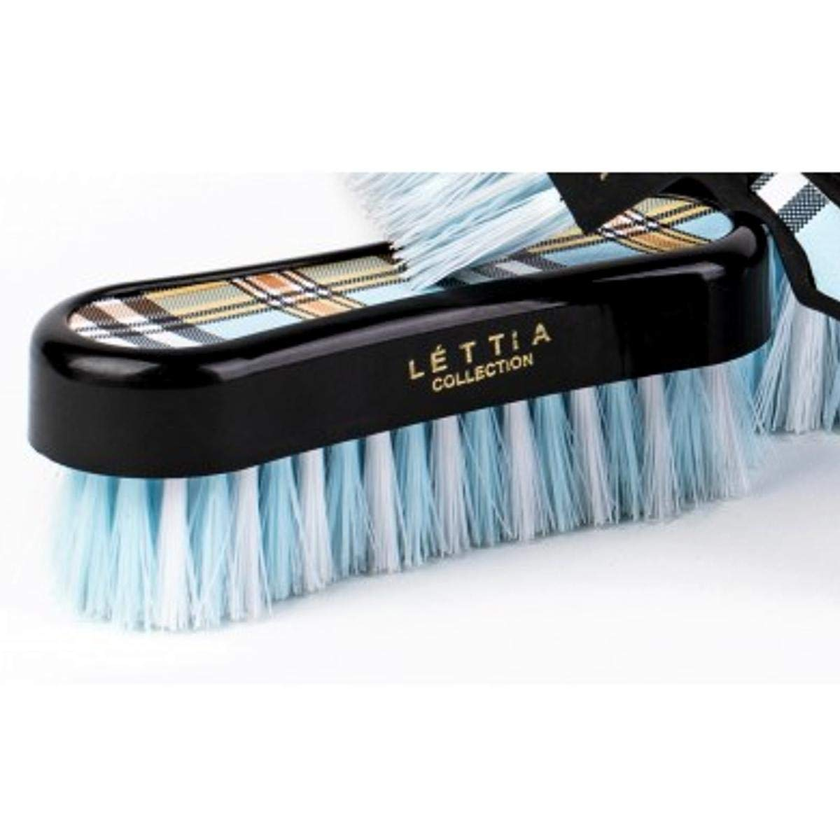 Lettia Tan Plaid Face Brush