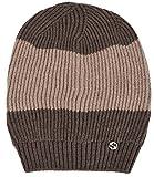 Gucci Men's Wool Brown Beige Interlocking GG Slouchy Beanie Hat