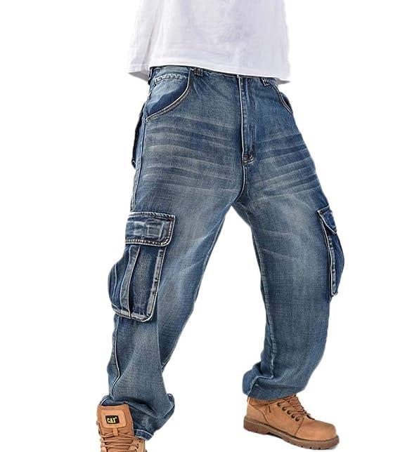 Vaqueros Holgados Estilo Hip Hop para Hombres Vaqueros ...