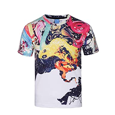 92785bac733b Amazon.com: Angelteers Men's Psychedelic T-Shirts All Over Print Tees  Novelty Trippy Clothes: Clothing