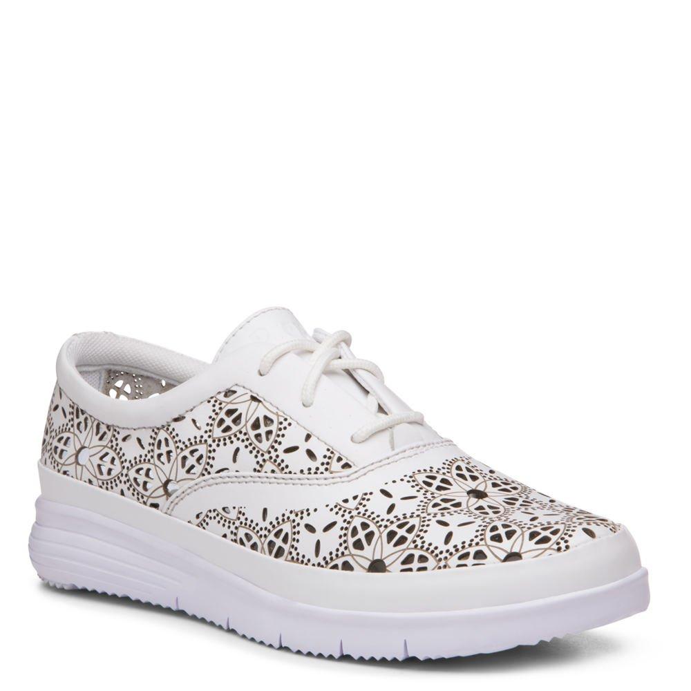 Propet Women's Harper Fashion Sneakers, White Leather, EVA, 7.5 W