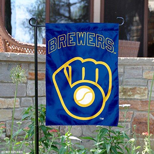 WinCraft Milwaukee Brewers Retro Throwback Glove Double Sided Garden Flag