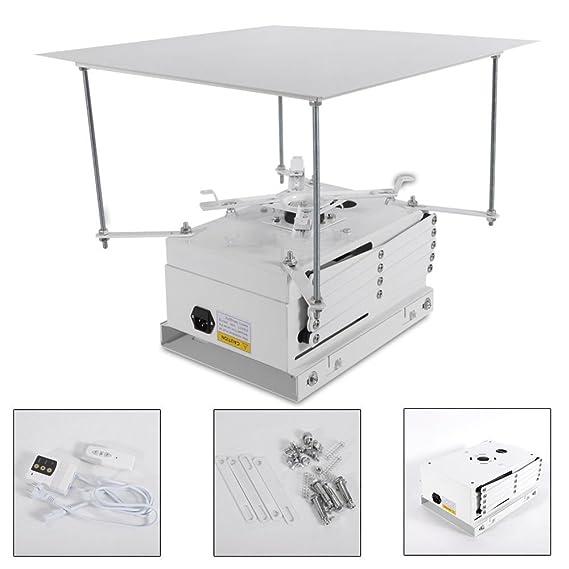 OUKANING - Soporte de Techo eléctrico para proyector de 100 cm de ...