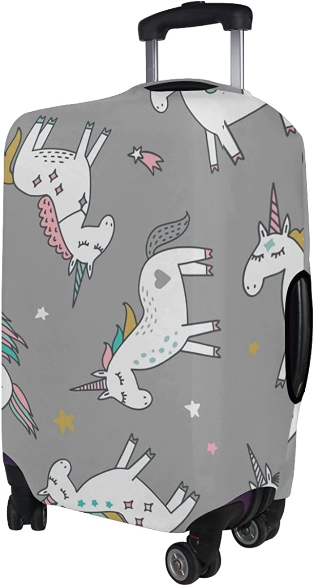 GIOVANIOR Unicorn Magic Stars Luggage Cover Suitcase Protector Carry On Covers