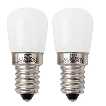 Bombilla nevera LED E14 2W ZSZT equivalente de bulbo del halógeno 15W, blanco frío 6000K