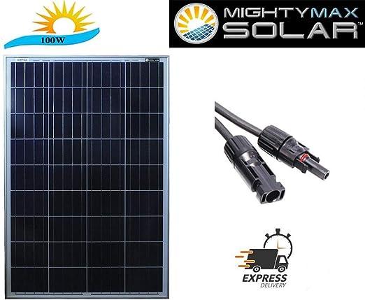 Amazon.com: Panel solar de 100W, 100W 12V ...