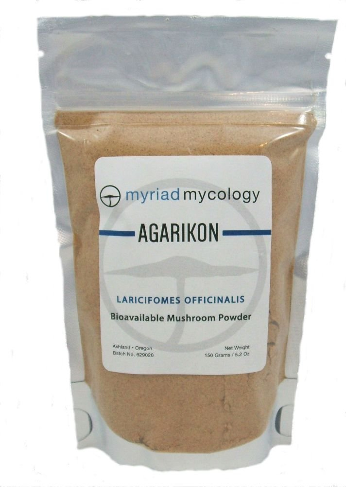 Myriad Mycology Agarikon Mushroom Powder 5.2 Ounces – Made in USA Ku Bai Ti – Natural Immune Booster