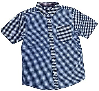 Ben Sherman Camisa Niños Manga Corta Cuadros Azul Edades Camisa 7 Años a 15 Años