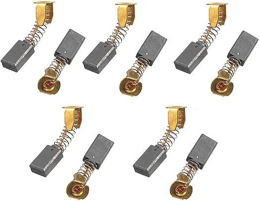 Spring Tipo de herramienta el/éctrica del motor escobillas de carb/ón de 12 mm x 9 mm x 5 mm 20 Pcs