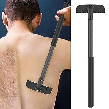 QJHP Depiladora Espalda De Los Hombres Mano Sin Dolor Hazlo Tu Mismo Afeitadoras Traseras Ajustables para
