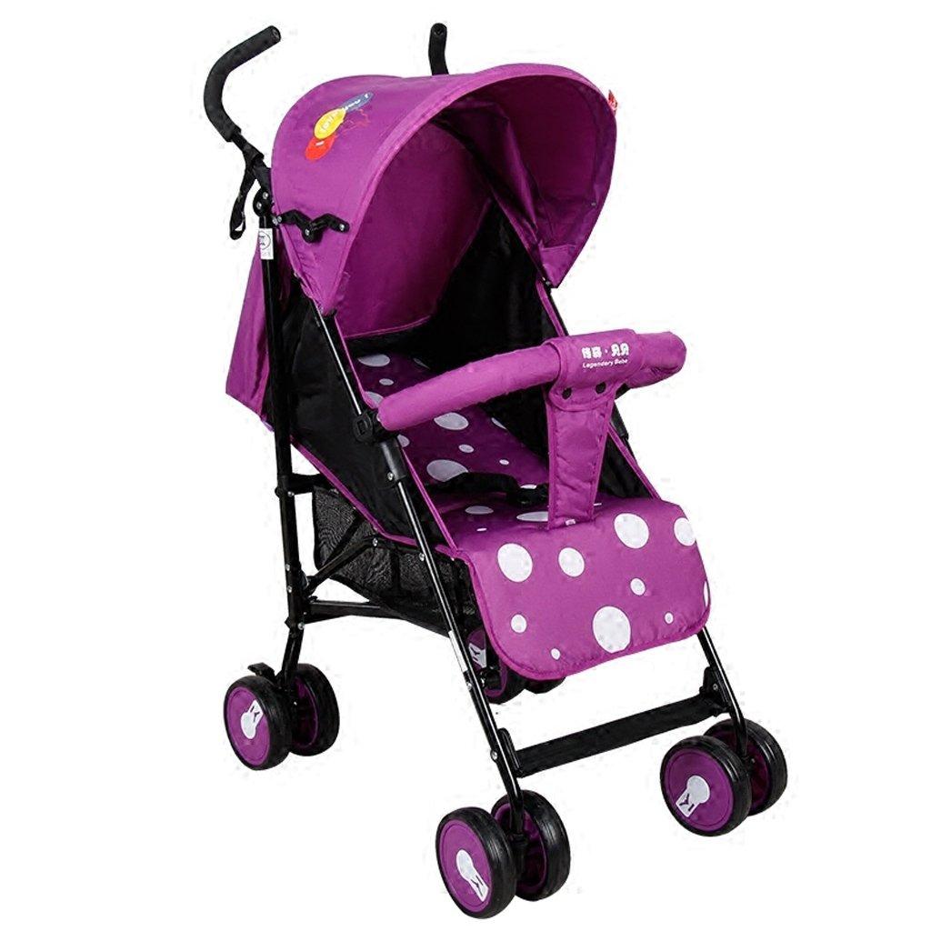 子供のベビーカー軽量ポータブル折りたたみベビーカー利用可能な子供のTrolleys (ブルー) (パープル) 60 47 98 cm B07BGXGR63パープル