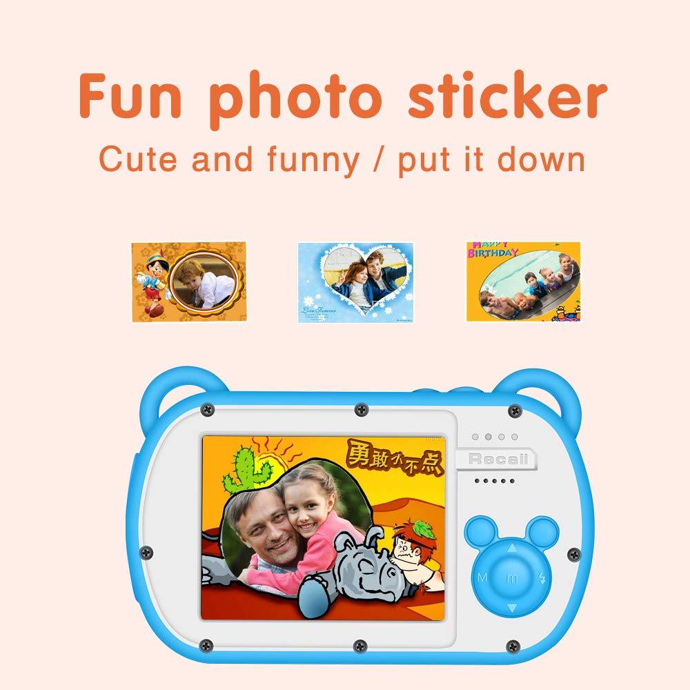 CamKing Kids Digital Camera, K3 2.7'' Screen Children's Cartoon Digital Camera, Blue by CamKing (Image #6)