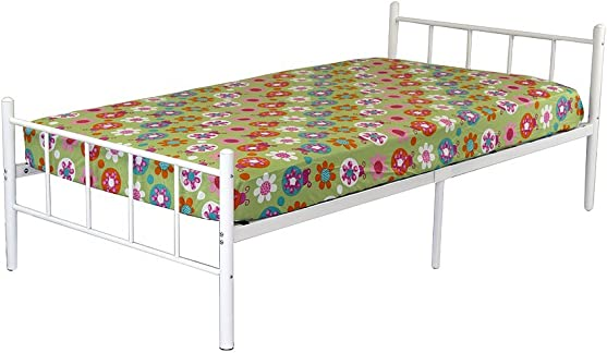 Rack Furniture Portland Metal Twin Bed White