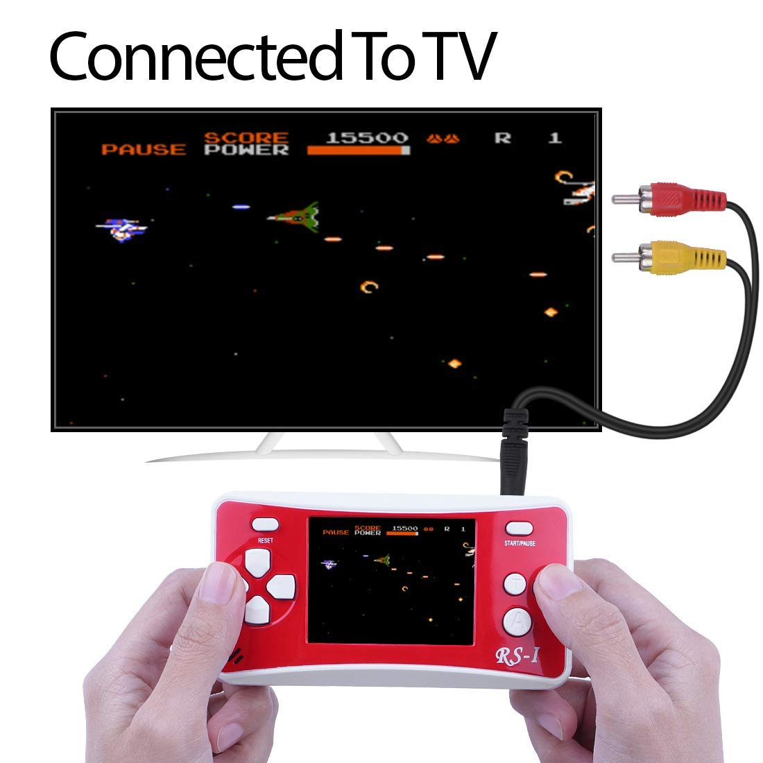 SKYRC Handheld Game Console for Kids,Classic Retro Game Player with 2.5'' LCD 8-Bit Portable Video Games Compatible with PAL AAD NTSC TV ,152 in 1 Classic Games -- (Black) by SKYRC (Image #2)