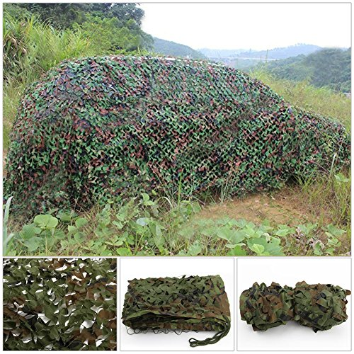 2 X 3m Woodland Filets de Camouflage Militaire Tactique Pour Camping Chasse Tournage Vert 3