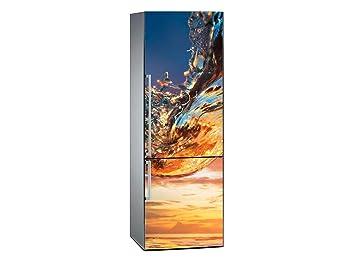 Kühlschrank Aufkleber : Amazon.de: oedim vinyl stickers welle bei sonnenuntergang