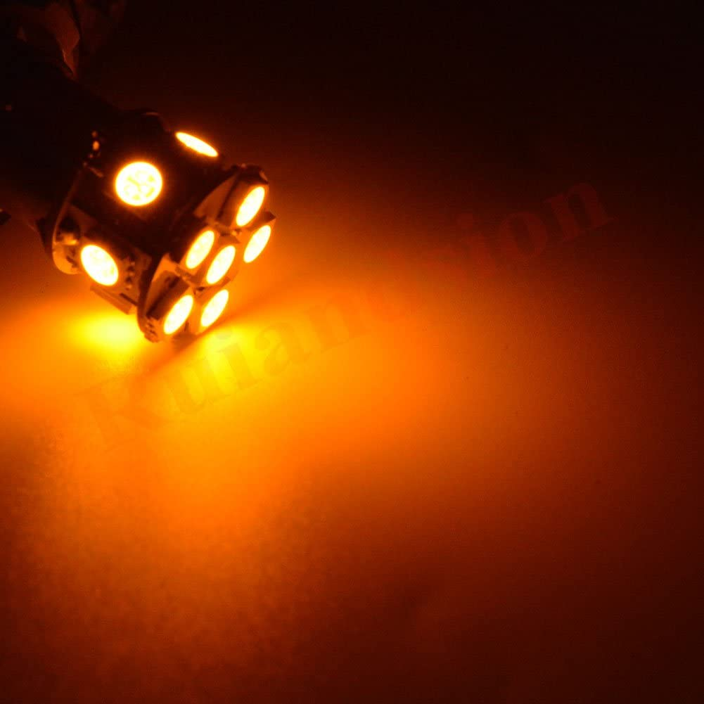 Ruiandsion 2pcs 12V 1142 1076 1176 BA15D LED Bulbs Super Bright 5050 12SMD LED Lamp for Back Up Reverse Lights Tail Brake Lights,Red