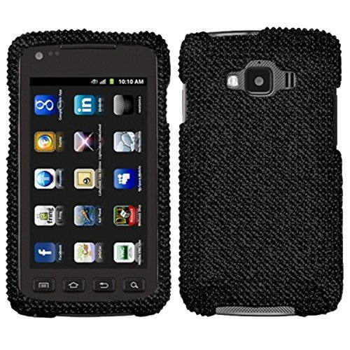 Aimo SAMI847HPCDMS003NP Dazzling Diamante Bling Case for Samsung Rugby Smart I847 - Retail Packaging - Black (Samsung Rugby Case Smart)