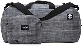 product image for Flowfold 24L Packable Duffle Bag - Ultra Lightweight & Water Resistant - Weekend Overnight Bag - TSA Compliant Carry-On - Vegan - Made in USA - Heather Grey